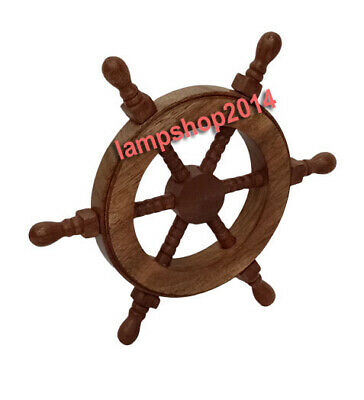 Nautical Pirate Wooden Ship Wheel Home Decorative Gift • 22.10£