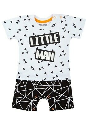 Baby Boys Short Romper Body Suit T-Shirt + Shorts Outfit Babies Newborn Gift • 8.99£