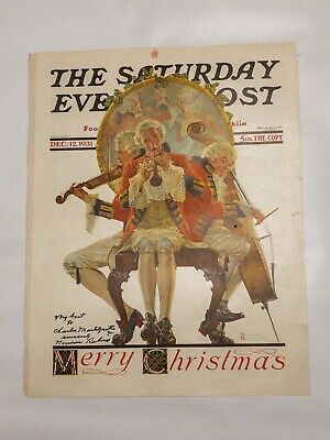$ CDN366.68 • Buy Original Saturday Evening Post Cover Page Dec 12, 1931 Signed Norman Rockwell