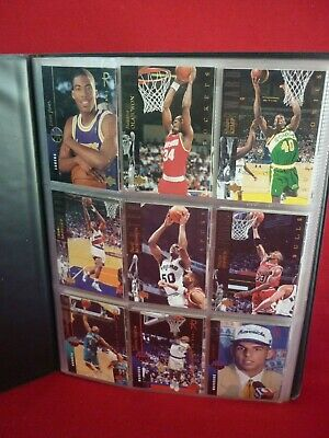 AU15 • Buy Nba Basketball Assorted Trading Cards In Folder Vgc Kidd Pippen Hardaway Topps
