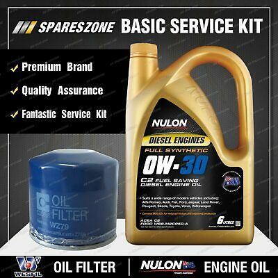 AU88.95 • Buy Wesfil Oil Filter + 6L SYND0W30 Oil Service Kit For Hyundai Tucson TLE 2.0L GDi