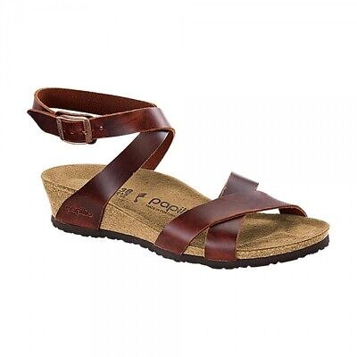 Papilio By Birkenstock LOLA 1009237 (Nar) Ladies Womens Strap Sandals Cognac • 75£