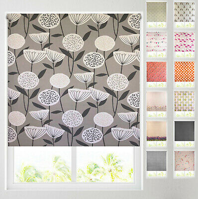 £19.99 • Buy Patterned Thermal Blackout Roller Blinds - 20 Designs - FREE CUT TO SIZE SERVICE