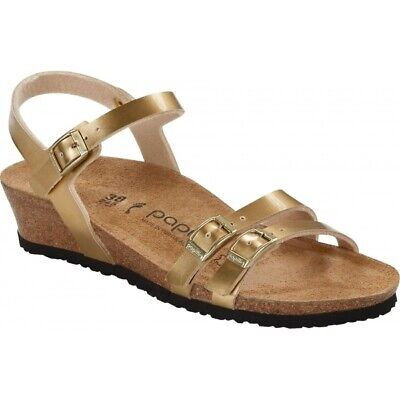 Papillio By Birkenstock LANA 1016347 (Nar) Ladies Birko-Flor Strap Sandals Gold • 49£