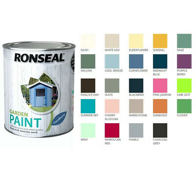 Ronseal Outdoor Garden Paint - For Exterior Wood Metal Stone Brick - All Colours • 11.99£