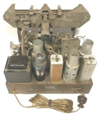 $ CDN81.83 • Buy Vintage SILVERTONE 6133 CONSOLE RADIO:  Untested CHASSIS  W/ 8 TUBES & PRE-SETS