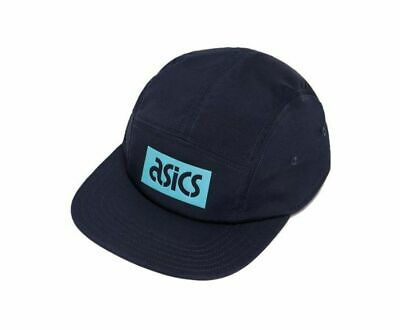 Asicstiger 5 Panel Hat Adjustable Strap Adults Unisex Flat Cap Navy A16066 0050 • 12.99£