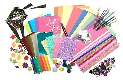 GLITTER Childrens ART & CRAFT Set Kids Creative Crafting Supplies Activity Pack  • 7.99£