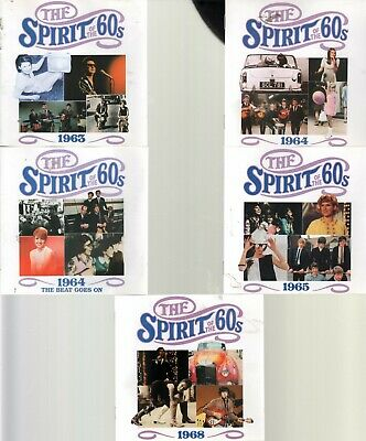 5 X Spirit Of The 60s (Time Life) CDs: 1963,1964,1965:beat Goes On,1965,1968  EX • 24.99£