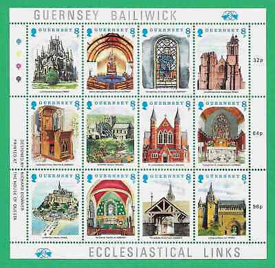 GUERNSEY 1988 CHRISTMAS SHEETLET OF 12 Mint Never Hinged/MNH • 2.35£