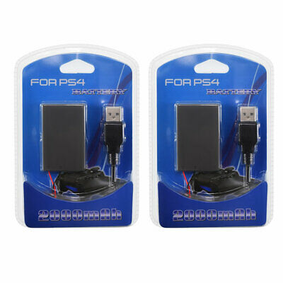 AU19 • Buy 2 Pack  PS4 2000mAh 3.7V Battery Replacement For Sony PS4 DualShock 4 Controller