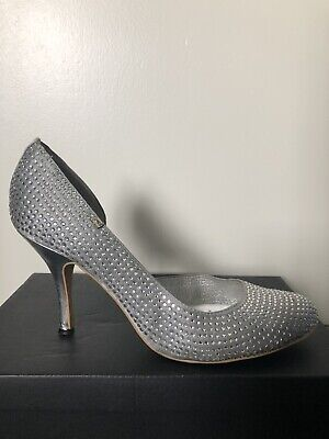 Silver Diamond Shoe High Heel UK 8 EU 41 Women's Ladies Shoes • 15£