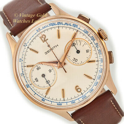 $5042.49 • Buy Zenith Cal.156 Chronograph, 18ct Pink Gold, C1957 - Immaculate!
