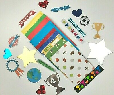 Children's FATHERS DAY Card Making Kit  4 X A6 Cards Kids Craft Making Kit • 4.99£