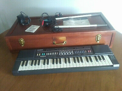 $65 • Buy Vintage Casio Casiotone MT-205 Electronic Keyboard, Carry Case, Drum Sticks
