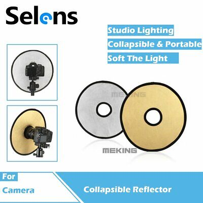 Selens Studio 2in1 Gold Silver Collapsible Hollow Round Camera Lens Reflector • 7.80£
