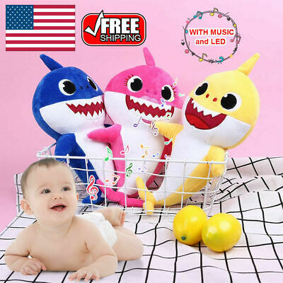 $10.99 • Buy Baby Shark Plush Singing Toys Music Sound Soft Doll English Song Kids Gift Toy