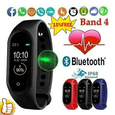 $ CDN5.83 • Buy M4 Smart Watch Sports Wrist Band Heart Rate Fitness Waterproof Tracker R2B3