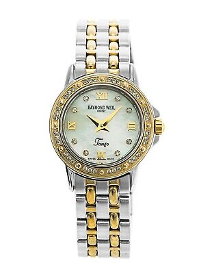 Raymond Weil 5860 Diamond Tango Womens Two Tone 18ct Gold Plated Watch Rrp £1299 • 499.99£