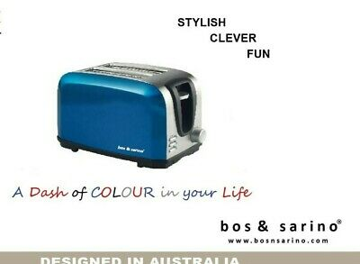 AU41.49 • Buy 2 Slice Full Stainless Steel Wide Slots High Lift Toaster Brushed Middle BLUE