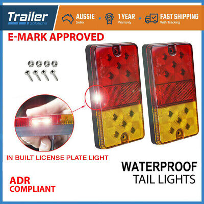 AU27.90 • Buy 2X Waterproof 10 LED Stop Tail Lights Kit Boat Truck Trailer Lights