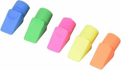 Swordfish Pencil Top Erasers Bright Neon Colours Smudge Free Rubbers - Pack 25 • 2.60£