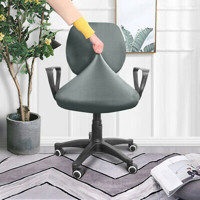 AU14.68 • Buy Stretch Swivel Computer Chair Cover Office Chair Slipcover Split Seat Protector