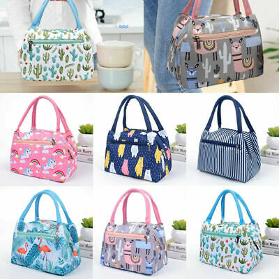 AU13.96 • Buy Cartoon Printed Lunch Bag Portabble Insulated Thermal Cool Bags Picnic Food Box