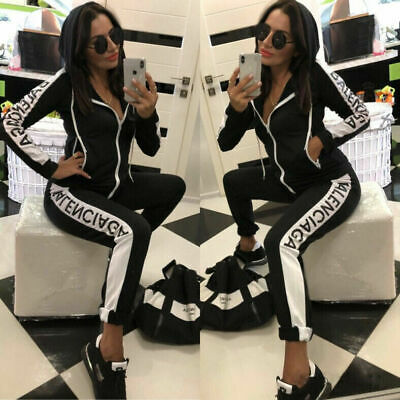 Women New Style Hoodie Top Trousers Tracksuit Set Casual Sports Gym Jogging Suit • 18.69£