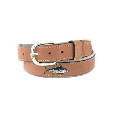 $28.99 • Buy Zep Pro Leather Embroidered Yellow Fin Yellowfin Tuna Belt