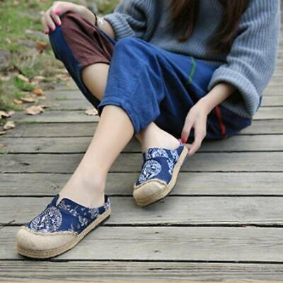 Women Chinese Old Beijing Embroidered Cloth Shoes Casual Dance Flat Shoes KS • 11.65£