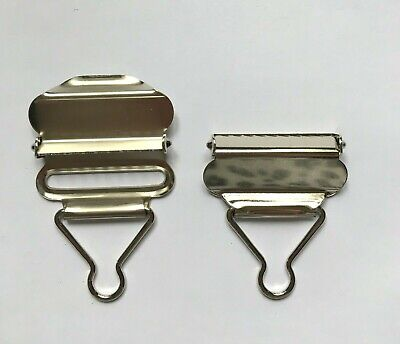 £2.65 • Buy 38mm Dungaree Buckles Metal Clips X2 For Bib'n'Brace Pinafores - Choice Of Cols