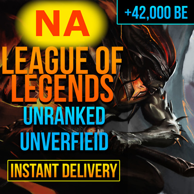 £2.99 • Buy NA League Of Legends LOL Account Smurf 42,000+ BE Unranked Level 30 *Cheapest*