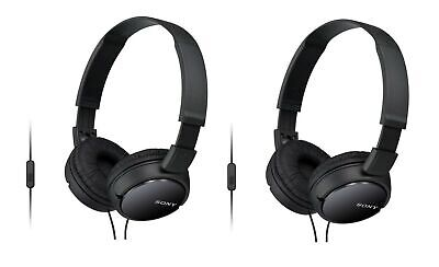 AU32.24 • Buy 2-PACK Sony MDR-ZX110AP Extra Bass Headphones W/ Microphone, Black