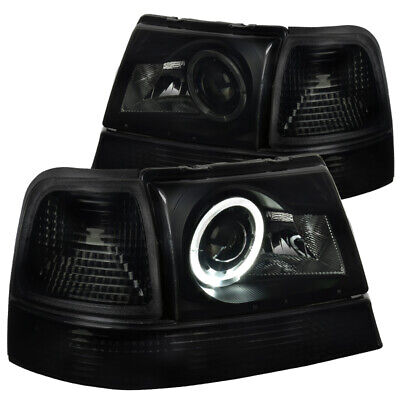 $129.99 • Buy For Ford 98-00 Ranger Halo Black Smoke Projector Headlights Turn Signal Lamps Pa