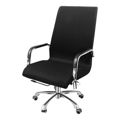 AU23.99 • Buy Office Computer Chair Covers Rotate Swivel Seat Cover Slipcovers Protector Black