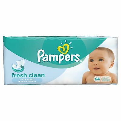 Pampers Fresh Clean Baby Wipes - 64 Wipes • 11.43£