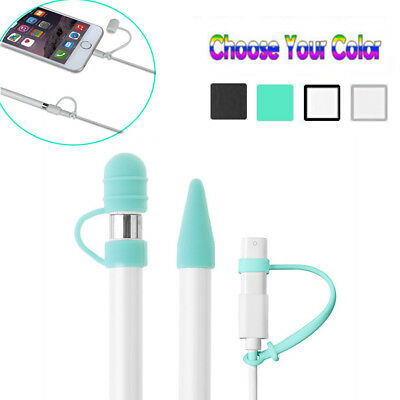 For Apple Pencil Cap Holder / Nib Cover / Lightning Cable Adapter Tether • 2.63£
