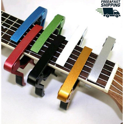 $ CDN6.56 • Buy Guitar Capo Acoustic Clip Ukulele Bass String Instrument Clamp Fret Electric US