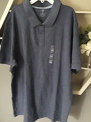Mens 2 X Large Polo Shirt New With Tags Marks And Spencer Chest 47 In _ 49in  • 5£