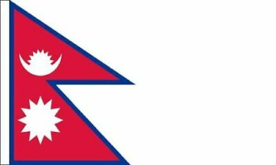£5.99 • Buy Pack Of 2 Nepal Flag Sleeved Flag Suitable For Boats 45cm X 30cm