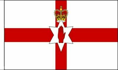 Pack Of 3 Northern Ireland Flag Sleeved Flag Suitable For Boats 45cm X 30cm • 8.99£