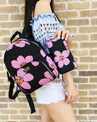 $ CDN395.45 • Buy Kate Spade Dawn Grand Flora Bradley Backpack + Large Floral Neda Wallet