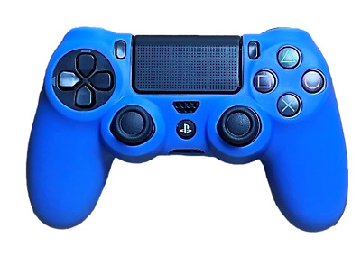 AU8.90 • Buy Silicone Cover For PS4 Controller Case Skin - Blue