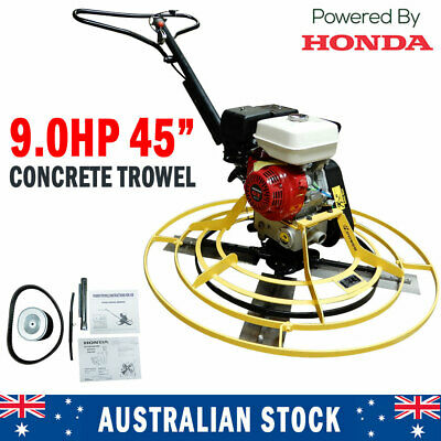 AU1630 • Buy New 45  Honda Concrete Trowel 9HP Engine Helicopter Trowelling Troweller Machine