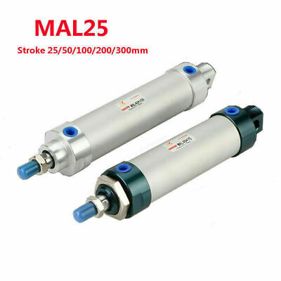 Pneumatic Air Cylinder Rod MAL25x25-300 Stroke Bore 25mm/1  Stroke 25mm-300mm • 14.48£