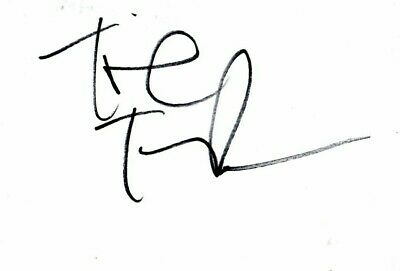 Tinie Tempah British Rapper Autographed/Signed White Card • 12.50£