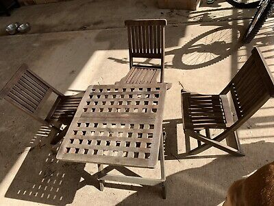 AU80 • Buy Kids Outdoor Table And Chair Setting Solid Timber, 3 Chairs