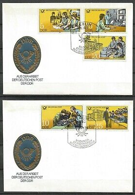 £1.50 • Buy Germany (East) DDR GDR 1981 FDC (2) Post Office Training Telephone Radio Clerks