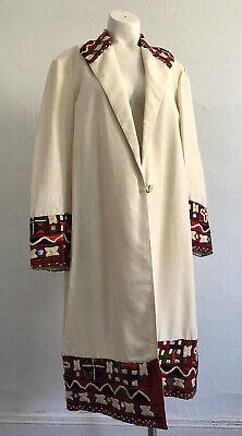 Antique 1920s Indian Shisha Embroidered Silk Coat Jacket Mirrorwork Egypt VTG • 414.86£